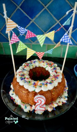 confetti birthday bundt